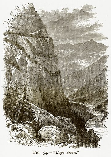 """""""Cape Horn."""" Illustration from Discoveries and Inventions by Robert Routledge (9th edn, George Routledge, 1891)."""