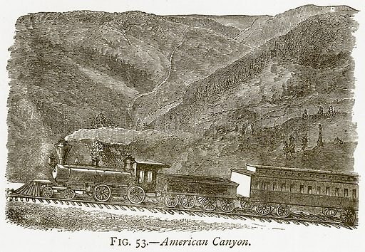 American Canyon. Illustration from Discoveries and Inventions by Robert Routledge (9th edn, George Routledge, 1891).