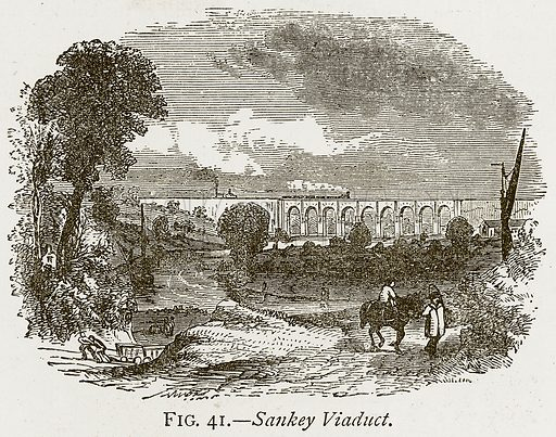 Sankey Viaduct. Illustration from Discoveries and Inventions by Robert Routledge (9th edn, George Routledge, 1891).