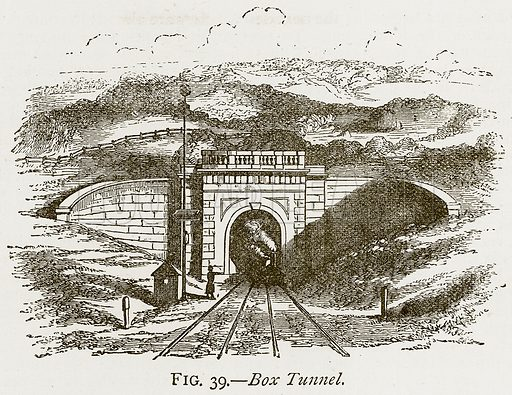 Box Tunnel. Illustration from Discoveries and Inventions by Robert Routledge (9th edn, George Routledge, 1891).