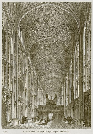 Interior View of King's College Chapel, Cambridge