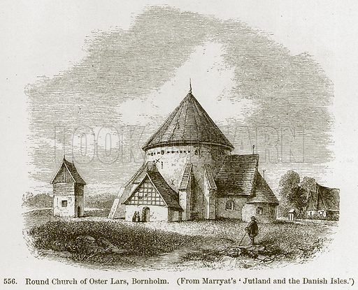 Round Church of Oster Lars, Bornholm. Illustration from A History of Architecture by James Fergusson (John Murray, 1874).