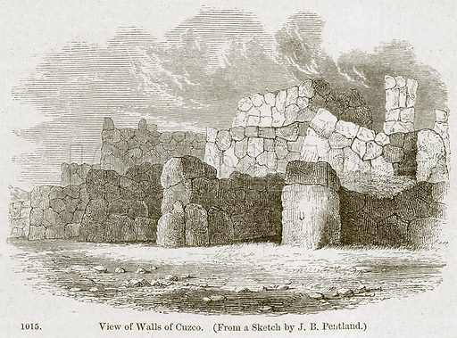 View of Walls of Cuzco. Illustration from A History of Architecture by James Fergusson (John Murray, 1874).