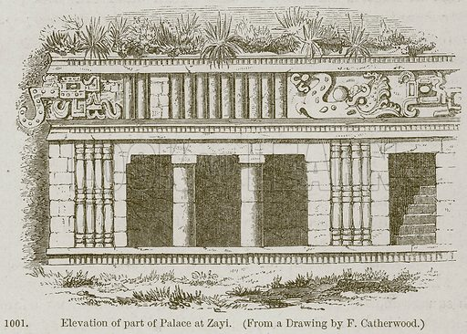 Elevation of Part of Palace at Zayi. Illustration from A History of Architecture by James Fergusson (John Murray, 1874).