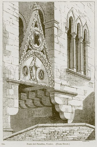 Ponte del Paradiso, Venice. Illustration from A History of Architecture by James Fergusson (John Murray, 1874).