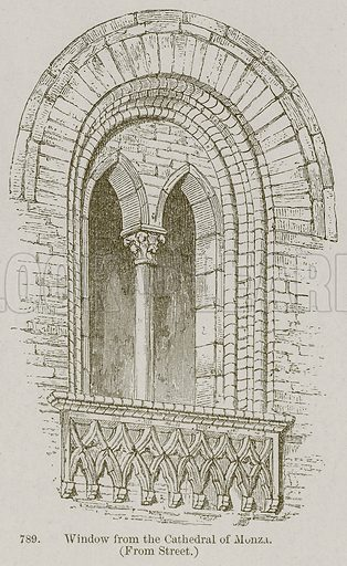 Window from the Cathedral of Monza. Illustration from A History of Architecture by James Fergusson (John Murray, 1874).