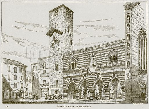 Broletto at Como. Illustration from A History of Architecture by James Fergusson (John Murray, 1874).