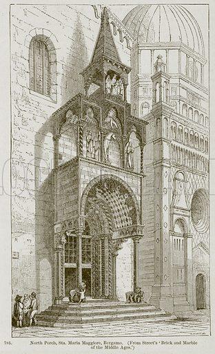 North Porch, Sta. Maria Maggiore, Bergamo. Illustration from A History of Architecture by James Fergusson (John Murray, 1874).