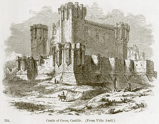 Castle of Cocos, Castille. Illustration from A History of Architecture by James Fergusson (John Murray, 1874).