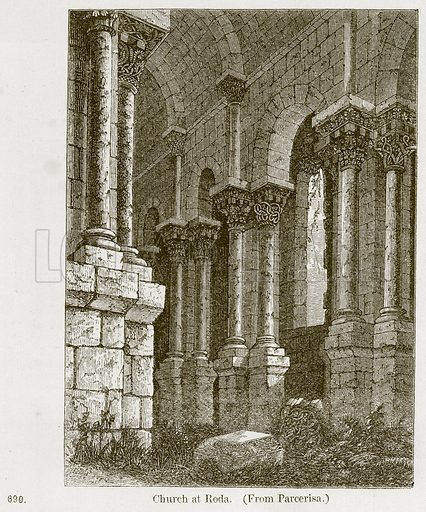 Church at Roda. Illustration from A History of Architecture by James Fergusson (John Murray, 1874).