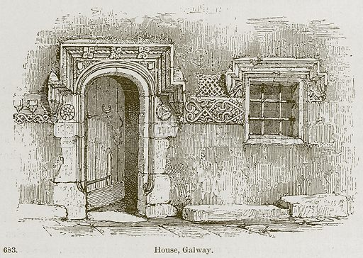 House, Galway. Illustration from A History of Architecture by James Fergusson (John Murray, 1874).