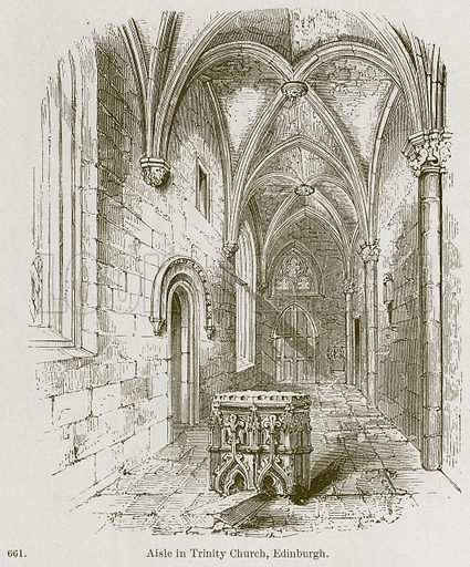 Aisle in Trinity Church, Edinburgh. Illustration from A History of Architecture by James Fergusson (John Murray, 1874).