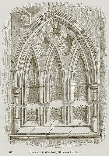 Clerestory Window, Glasgow Cathedral. Illustration from A History of Architecture by James Fergusson (John Murray, 1874).