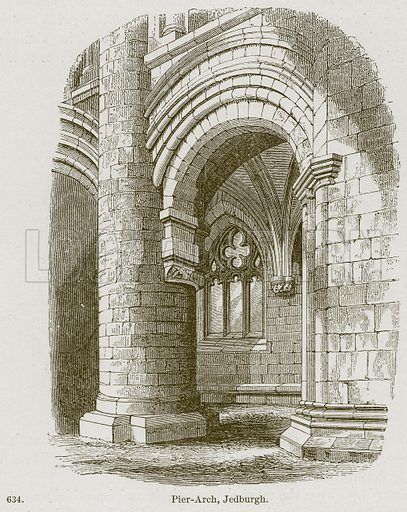 Pier-Arch, Jedburgh. Illustration from A History of Architecture by James Fergusson (John Murray, 1874).