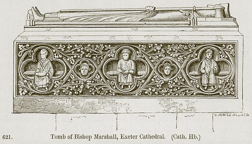 Tomb of Bishop Marshall, Exeter Cathedral. (Cath. Hb.) Illustration from A History of Architecture by James Fergusson (John Murray, 1874).