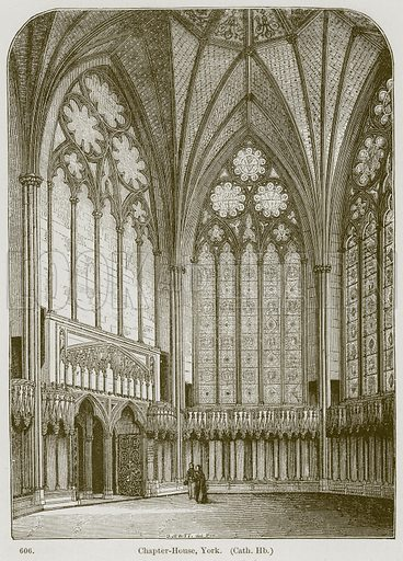 Chapter-House, York. (Cath. Hb.) Illustration from A History of Architecture by James Fergusson (John Murray, 1874).
