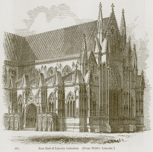 East End of Lincoln Cathedral. Illustration from A History of Architecture by James Fergusson (John Murray, 1874).