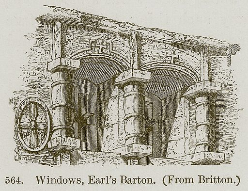 Windows, Earl's Barton. Illustration from A History of Architecture by James Fergusson (John Murray, 1874).