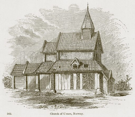 Church of Urnes, Norway. Illustration from A History of Architecture by James Fergusson (John Murray, 1874).