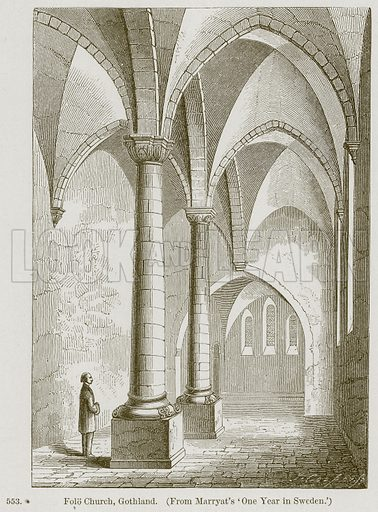 Folo Church, Gothland. Illustration from A History of Architecture by James Fergusson (John Murray, 1874).