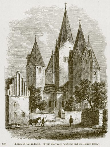Church of Kallundborg. Illustration from A History of Architecture by James Fergusson (John Murray, 1874).
