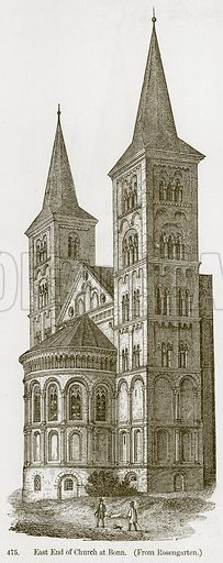 East End of Church at Bonn. Illustration from A History of Architecture by James Fergusson (John Murray, 1874).