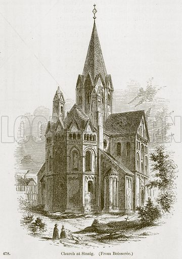 Church at Sinzig. Illustration from A History of Architecture by James Fergusson (John Murray, 1874).