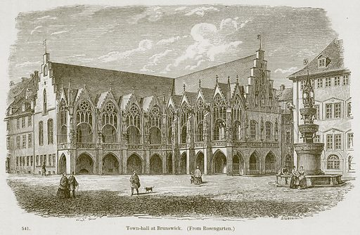 Town-Hall at Brunswick. Illustration from A History of Architecture by James Fergusson (John Murray, 1874).