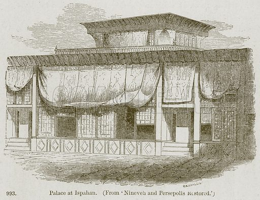 Palace at Ispahan. Illustration from A History of Architecture by James Fergusson (John Murray, 1874).