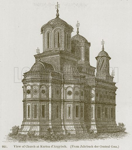 View of Church at Kurtea d'Argyisch. Illustration from A History of Architecture by James Fergusson (John Murray, 1874).