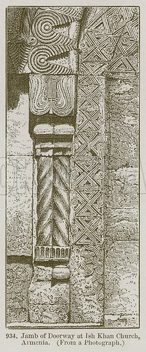 Jamb of Doorway at Ish Khan Church, Armenia. Illustration from A History of Architecture by James Fergusson (John Murray, 1874).