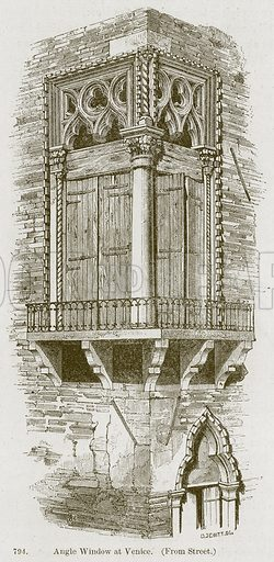 Angle Window at Venice. Illustration from A History of Architecture by James Fergusson (John Murray, 1874).