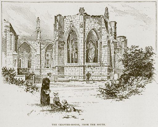 The Chapter-House, from the South. Illustration from Cathedrals, Abbeys and Churches by TG Bonney (Cassell, 1891).