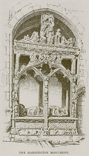 The Harrington Monument. Illustration from Cathedrals, Abbeys and Churches by TG Bonney (Cassell, 1891).
