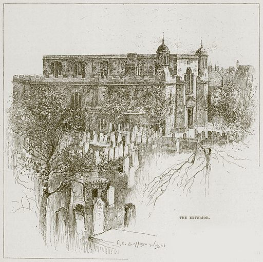 The Exterior. Illustration from Cathedrals, Abbeys and Churches by TG Bonney (Cassell, 1891).