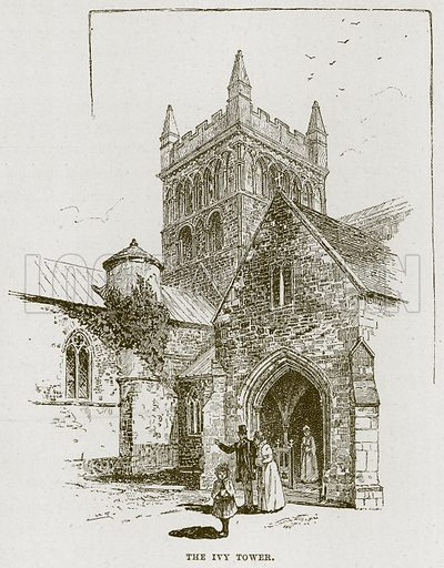 The Ivy Tower. Illustration from Cathedrals, Abbeys and Churches by TG Bonney (Cassell, 1891).