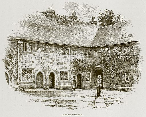 Cobham College. Illustration from Cathedrals, Abbeys and Churches by TG Bonney (Cassell, 1891).