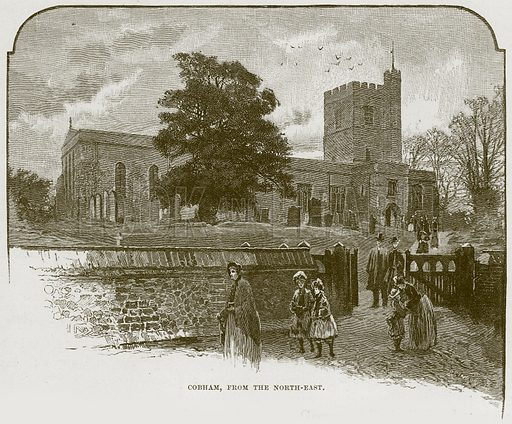 Cobham, from the North-East. Illustration from Cathedrals, Abbeys and Churches by T G Bonney (Cassell, 1891).