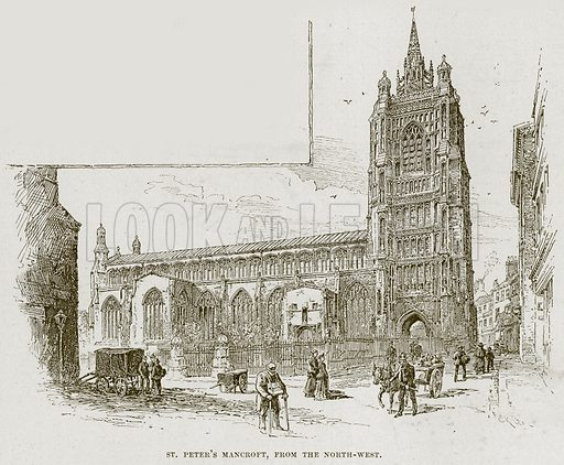 St Peter's Mancroft, from the North-West. Illustration from Cathedrals, Abbeys and Churches by TG Bonney (Cassell, 1891).