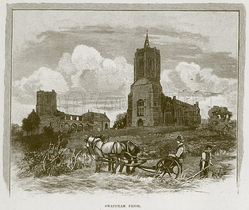 Swaffham Prior. Illustration from Cathedrals, Abbeys and Churches by T G Bonney (Cassell, 1891).