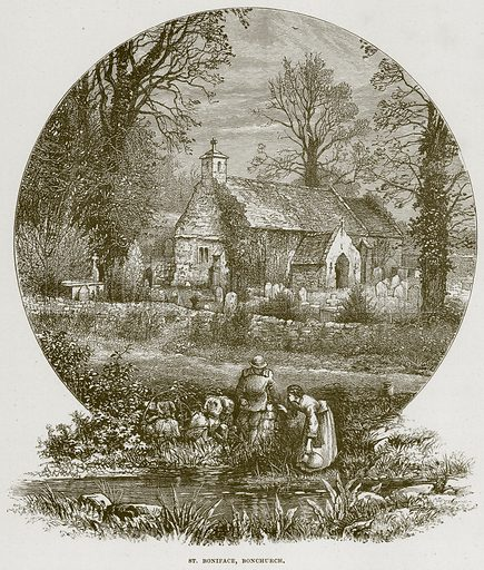 St Boniface, Bonchurch. Illustration from Cathedrals, Abbeys and Churches by TG Bonney (Cassell, 1891).