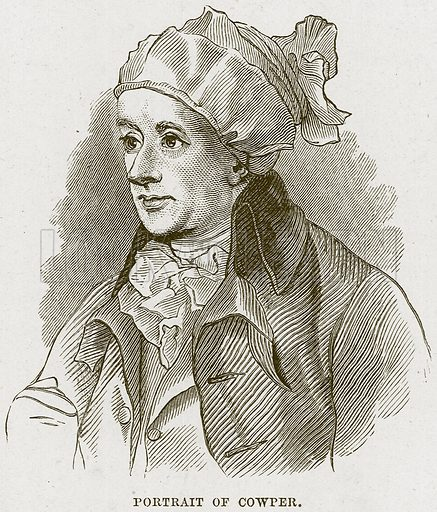 Portrait of Cowper. Illustration from Cathedrals, Abbeys and Churches by T G Bonney (Cassell, 1891).