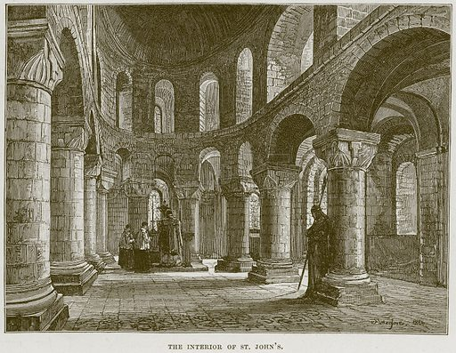 The Interior of St. John's. Illustration from Cathedrals, Abbeys and Churches by T G Bonney (Cassell, 1891).