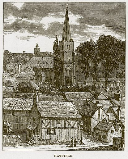 Hatfield. Illustration from Cathedrals, Abbeys and Churches by T G Bonney (Cassell, 1891).