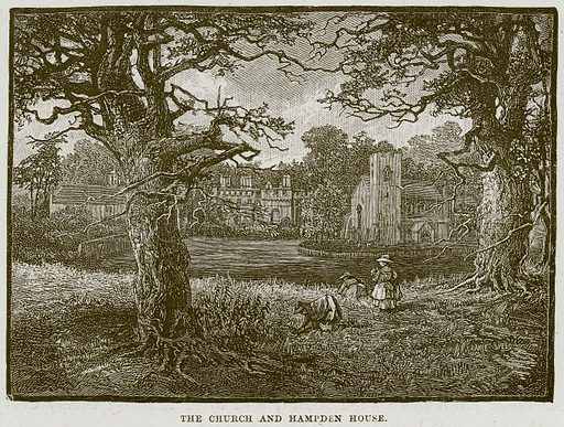 The Church and Hampden House. Illustration from Cathedrals, Abbeys and Churches by T G Bonney (Cassell, 1891).