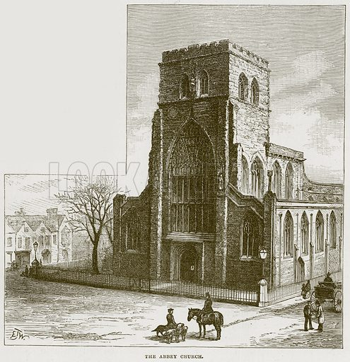 The Abbey Church. Illustration from Cathedrals, Abbeys and Churches by T G Bonney (Cassell, 1891).