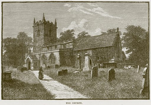 The Church. Illustration from Cathedrals, Abbeys and Churches by T G Bonney (Cassell, 1891).