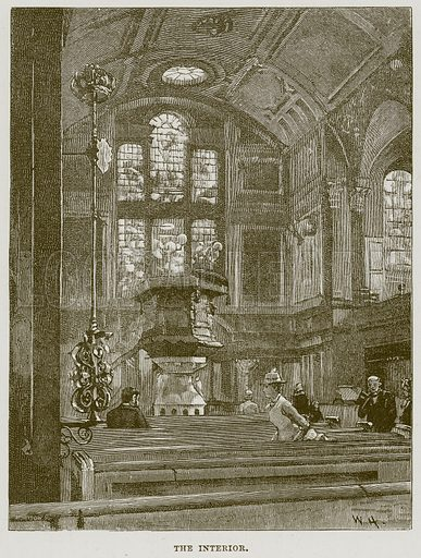 The Interior. Illustration from Cathedrals, Abbeys and Churches by T G Bonney (Cassell, 1891).