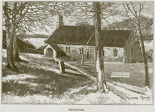 Heysham. Illustration from Cathedrals, Abbeys and Churches by T G Bonney (Cassell, 1891).