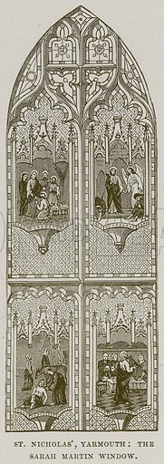 St Nicholas', Yarmouth: The Sarah Martin Window. Illustration from Cathedrals, Abbeys and Churches by TG Bonney (Cassell, 1891).